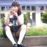 【Pcolle】欅坂46山﨑天ちゃん似のJC、座りパンチラ!