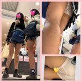 【Pcolle】JKの経血付きパンツを4K逆さ撮り盗撮!