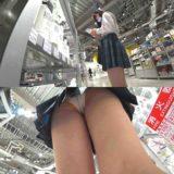 【Pcolle】クラス上位の新栄JK、純白パンツ盗撮でゲット!
