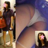 【PALPIS】乃木坂系美少女JK、純白パンツ逆さ撮り盗撮!