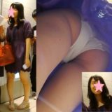 【Pcolle】乃木坂系美少女JK、純白パンツ逆さ撮り盗撮!