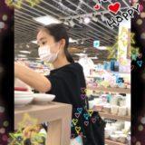 【Pcolle】美少女マスクJC、グレーのパンチラ逆さ撮り盗撮!