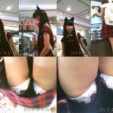 【Pcolle】美少女JS、ダサいキャラパンツを盗撮されてしまう!