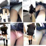 【Pcolle】JKの鮮やかなサテンパンツ、スカートめくり!