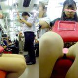 【Pcolle】電車でアイドル並みにカワイイJD盗撮してみた