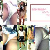 【Pcolle】制服&私服JCの生パンツ、逆さ撮りしまくり!www