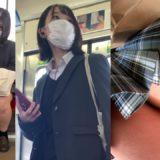 【Pcolle】クラスのオナペ!?電車でJK逆さ撮り!
