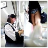 【Pcolle】駅の階段でJKスカートめくり!生ぱん丸見えwwwww