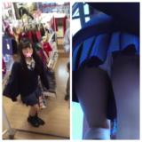 【Pcolle】坂道系JKの純白サテンを階段で逆さ撮り!