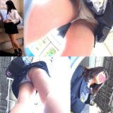 【Pcolle】バスに乗る振りしてJKのパンツ撮る←!?!?wwwww